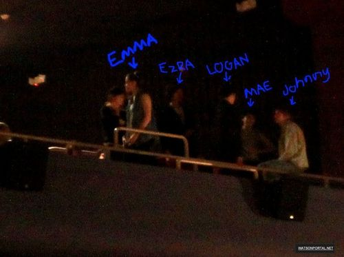 "May 21, 2011 - Emma at the Rocky Horror toon with the Cast of ""Perks"""
