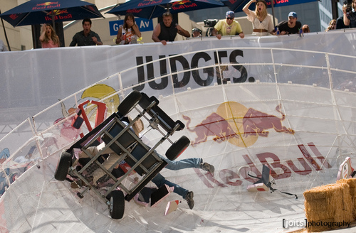 More photos of Candice judging the LA Red Bull Soapbox race! [21/05/11]