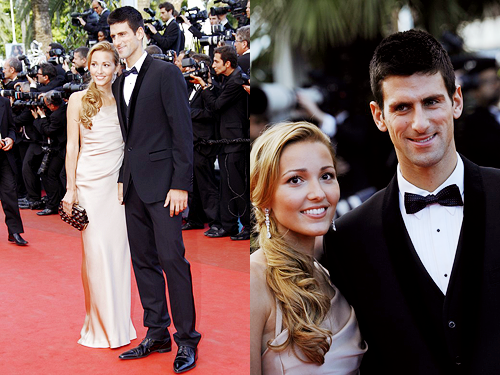 Novak & Girlfriend Jelena At Cannes International Film Festival Red Carpet!! 100% Real ♥