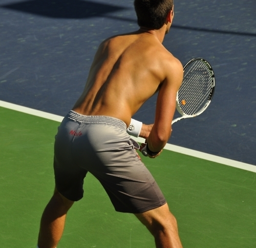 Novak Topless!! From The Back!! (Love Everyfing Bout The Serbernator) 100% Real ♥