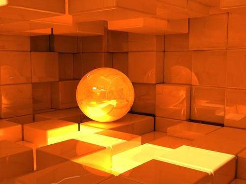 orange object