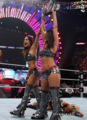 Over the  2011 : Kelly vs Brie Bella (WWE Divas Championship).