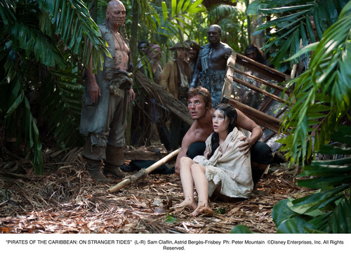 Pirates of the Caribbean wallpaper with common bamboo and a mulch titled POTC 4 Philip & Syrena stills