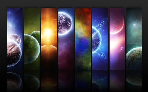 The Universe پیپر وال entitled Planets