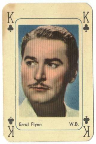 Playing Cards Errol Flynn