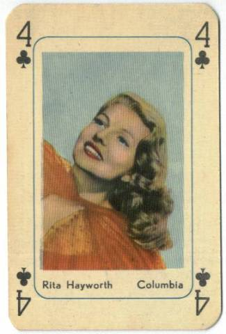 Playing Cards Rita Hayworth
