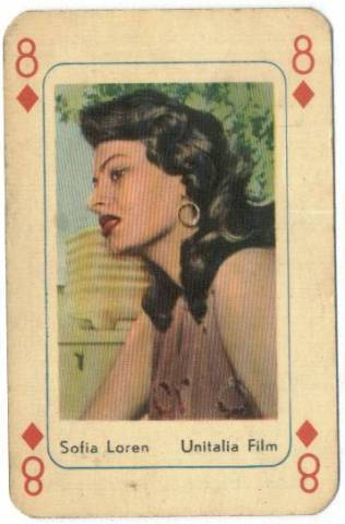 Playing Cards Sophia Loren
