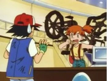 Misty's mad at Ash
