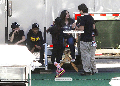Prince, Paris, And Blanket With Jaden and Willow Smith 5/20/2011 (Bigger)