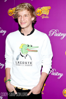 "Cody Simpson wallpaper possibly with a jersey, a tennis player, and a tennis pro called Public Events & Appearances > 2011 > May 19th - Attending Pastry's ""Barbie So In Style"" Collection L"