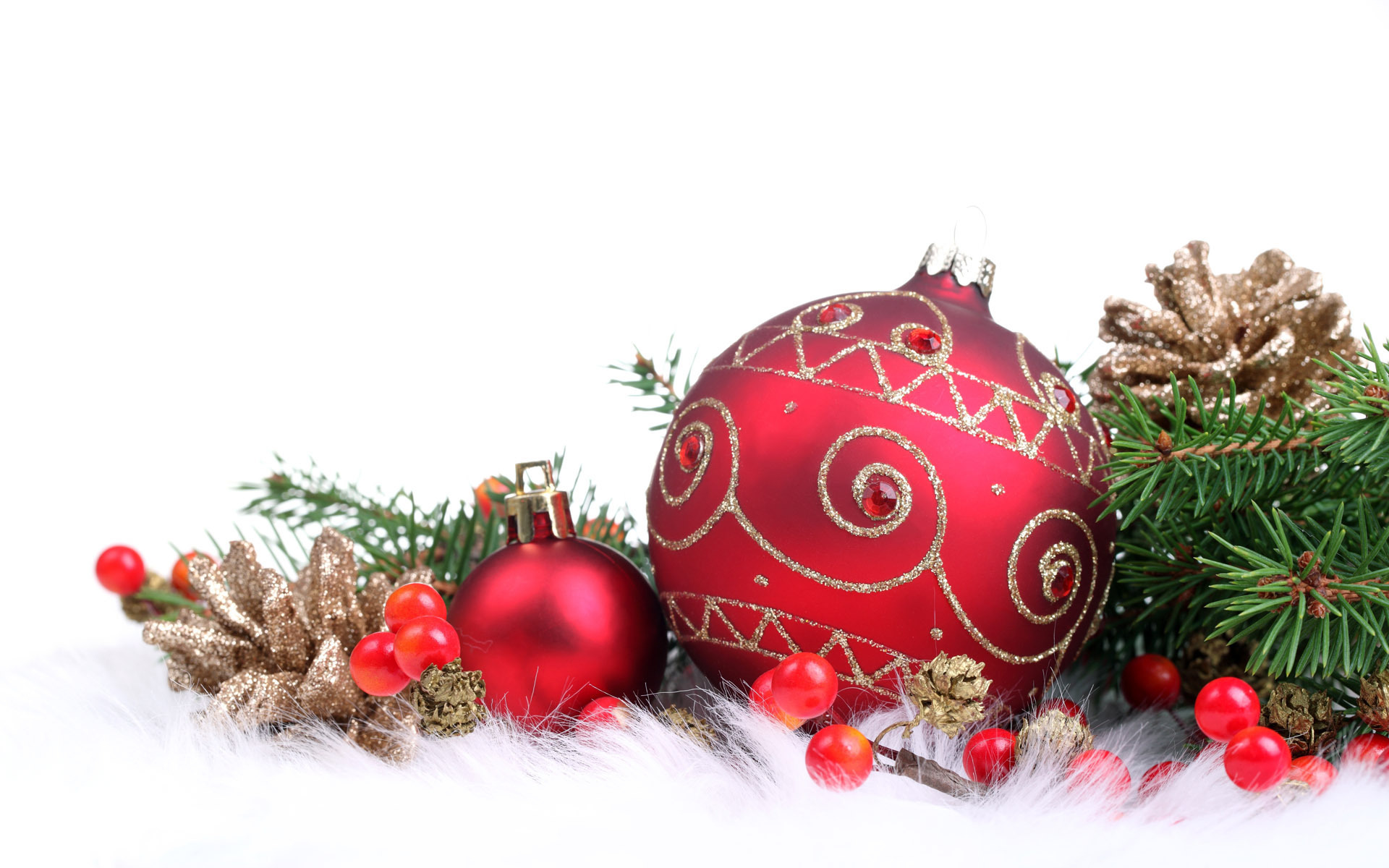 Red christmas decorations christmas wallpaper 22228021 for Background decoration images