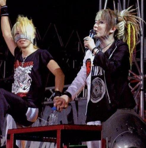 The Gazette achtergrond probably with a lippizan and a horse trail called Reita and Ruki