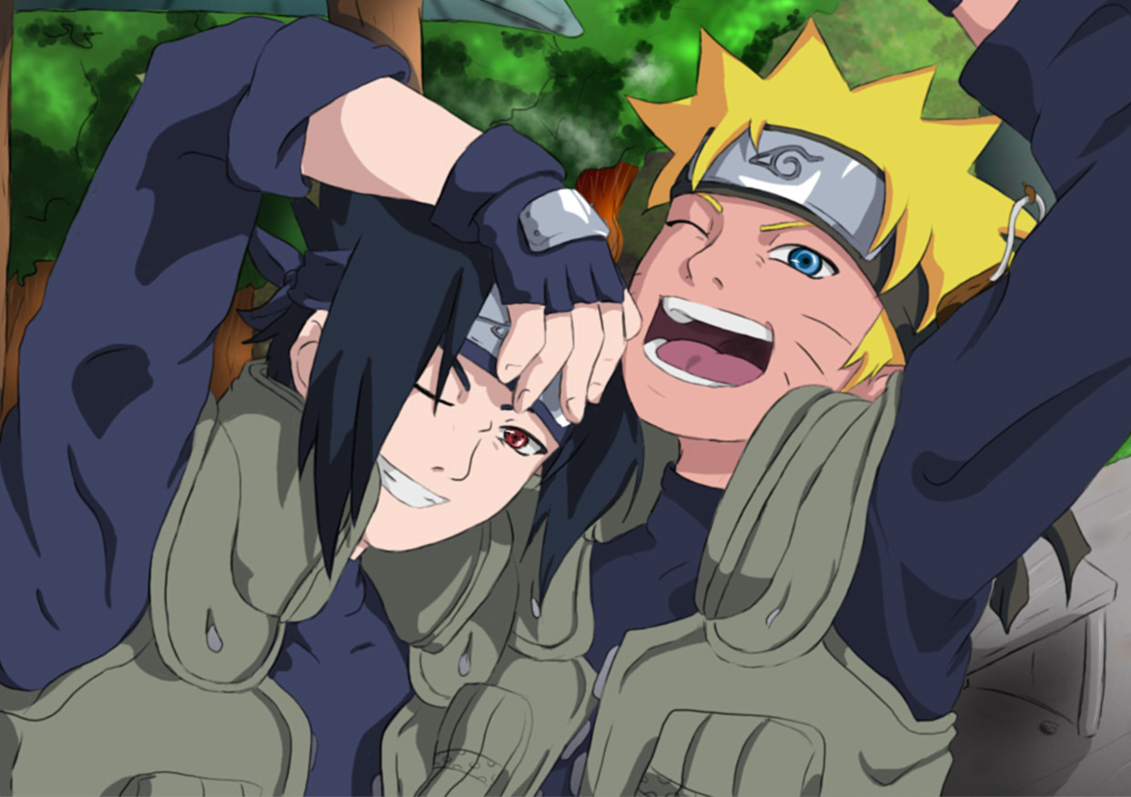 Naruto and Sasuke Kiss