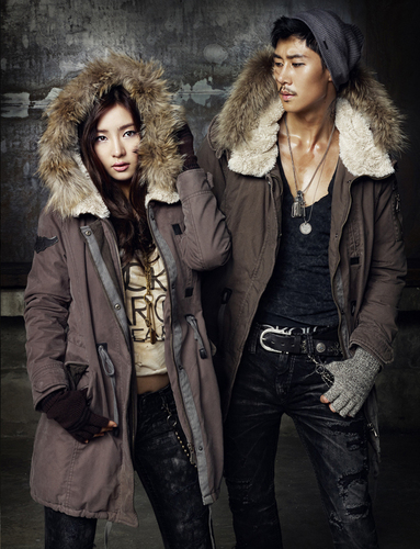 Shin Se Kyung wallpaper with a fur coat entitled Shin Se Kyung - For Buckaroo Jeans