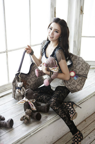 Shin Se Kyung wallpaper probably with hosiery, a hip boot, and a den entitled Shin Se Kyung - For Lovcat bags paris