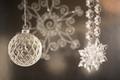 Silver クリスマス decorations