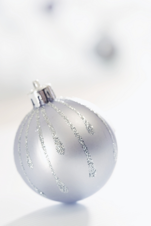 Silver Christmas Ornaments Christmas Photo 22229586