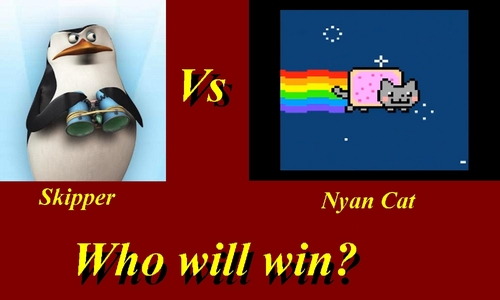 Skipper Meets Nyan Cat