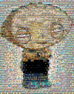 Stewie made of actual family Guy show scenes