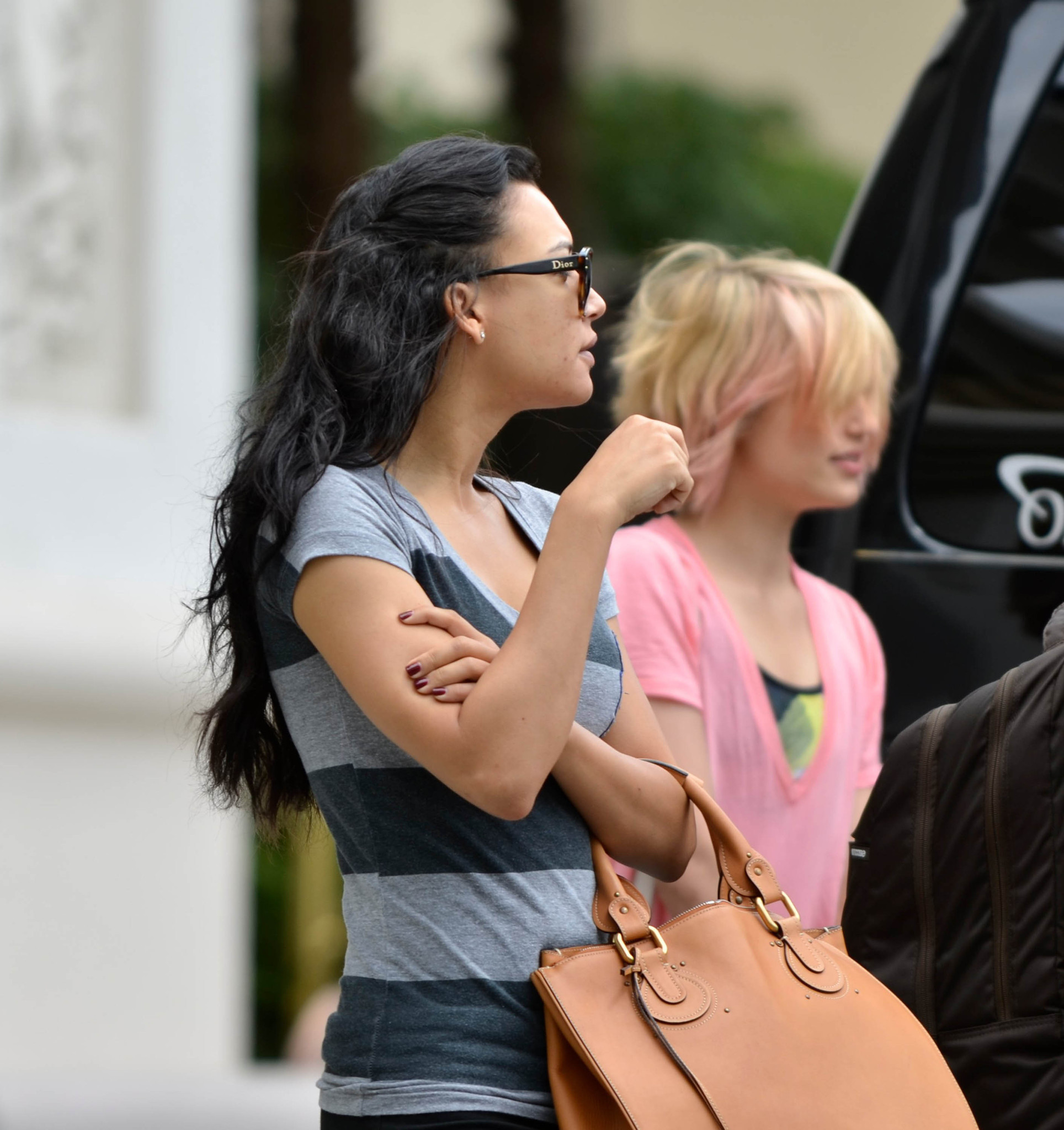 The Glee Cast Heads to Rehearsal