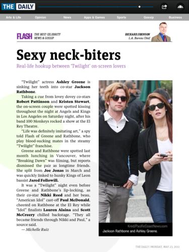 Twilight's blood-sucking couple Ashley Greene & Jackson Rathbone halik offscreen!