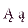 Variations of letter A