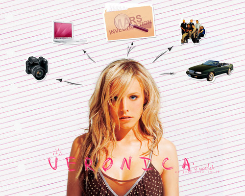Veronica Mars achtergrond possibly with bare legs, a hip boot, and tights called Veronica Mars