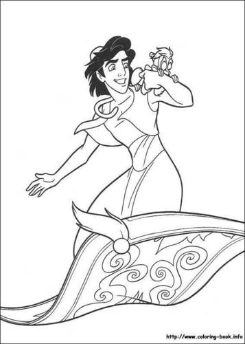 Walt disney Coloring Pages - aladdin & Abu