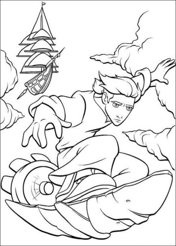 Walt ディズニー Coloring Pages - Jim Hawkins