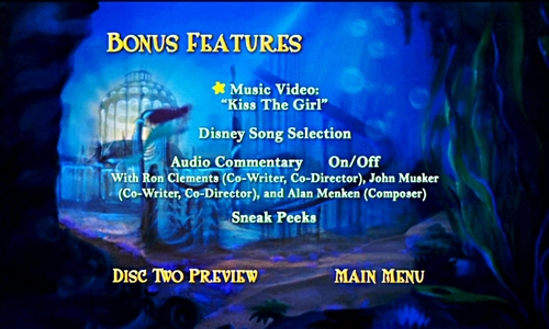 Walt disney DVD Menus - The Little Mermaid