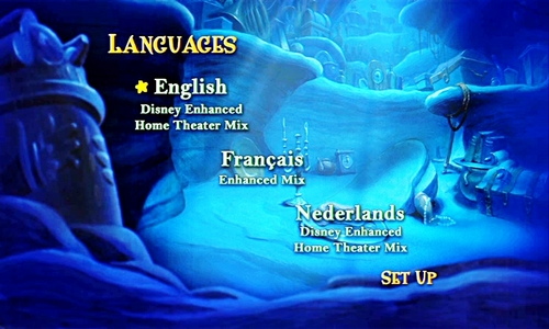 Walt 迪士尼 DVD Menus - The Little Mermaid