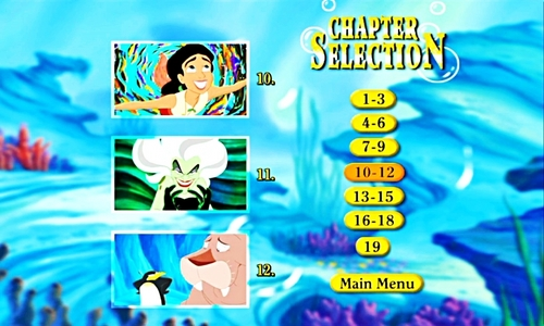 Walt 迪士尼 Menus - The Little Mermaid II: Return to the Sea