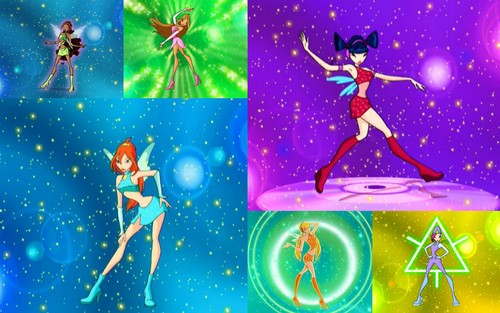 Winx Club fond d'écran titled collages