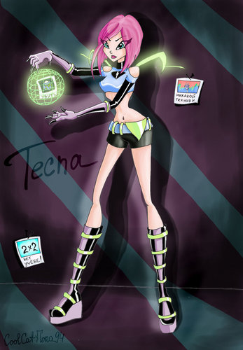 Winx Club hình nền possibly with anime called dark believix tecna