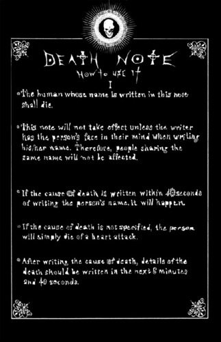 deathnote instructions