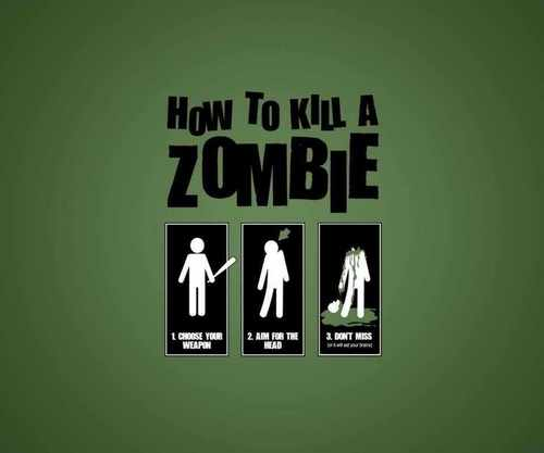Zombies wallpaper called how to kill a zombie