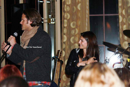 Jared Padalecki & Genevieve Cortese wallpaper with a concert called j&g <3