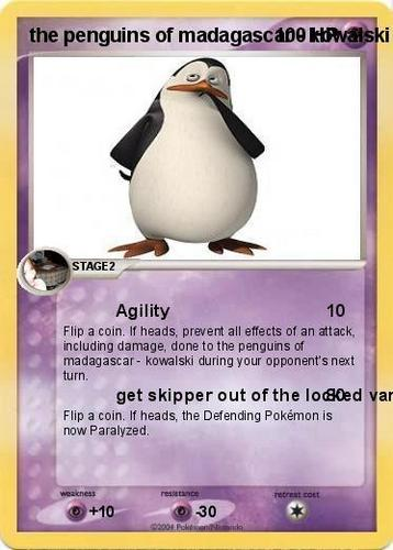 kowalski on a pokemon card
