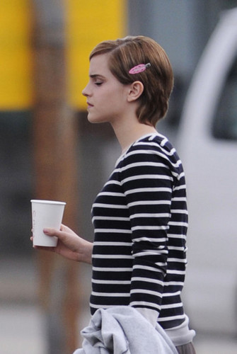 """on the set of """"The Perks of Being a Wallflower"""" in NYC"""