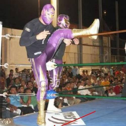 sin cara in purple