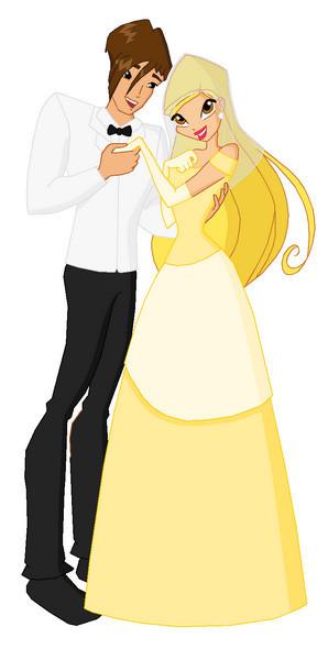 stella and brandon married - the-winx-club fan art
