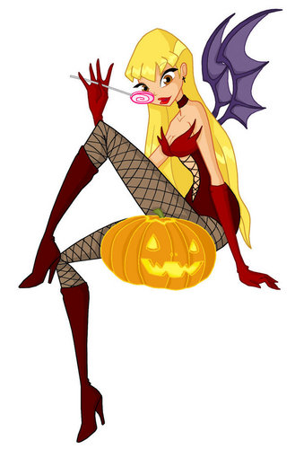 The Winx Club پیپر وال possibly containing عملی حکمت entitled stella halloween