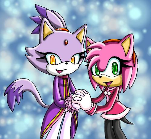 Amy with her bff Blaze