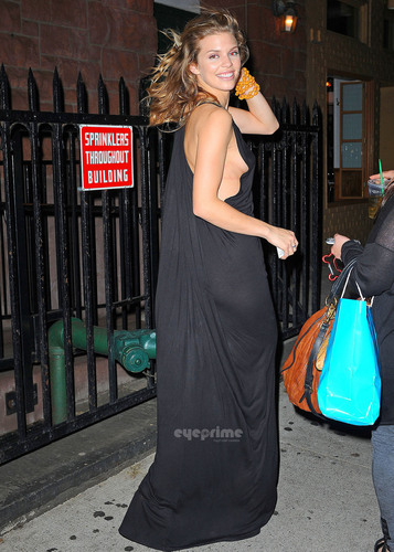 AnnaLynne McCord leaves her Broadway Play in NY, May 26