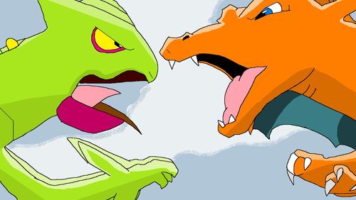 Ash's Charizard vs. Ash's Sceptile!