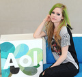 Avril's Visit at the AOL Sessions Studios!