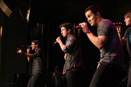 Big time rush at the kiss 108 concert in Boston