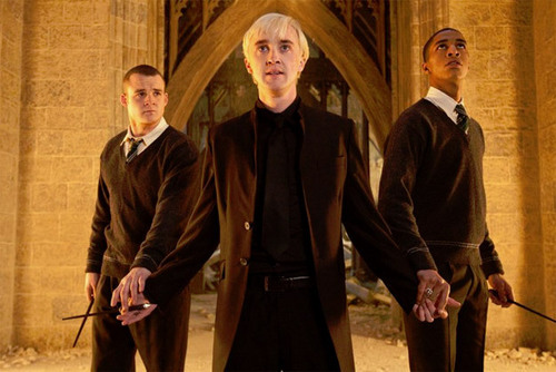 Blaise Zabini with Draco Malfoy and Gregory Goyle