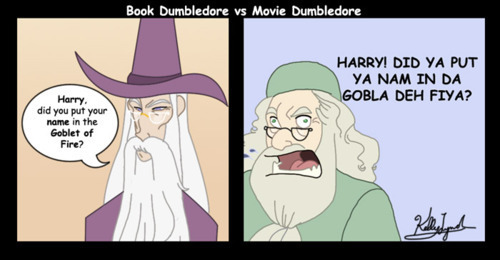 Book Dumbledore vs Movie Dumbledore