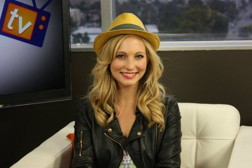 Candice at the 'Clevver TV' Studios during an interview! [May 2011]